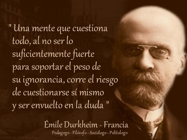 Durkeim y la pedagogía social