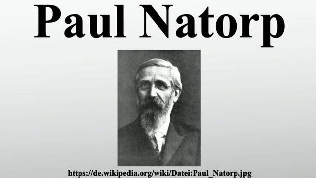 Natorp-Pedagogía social idealista