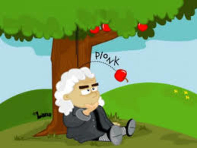 "Isaac Newton describes ""Universal Gravitation"""