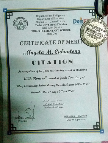 With Honors in Grade Two