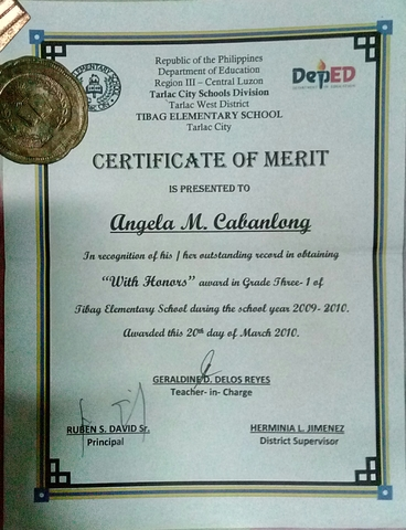With Honors in Grade Three