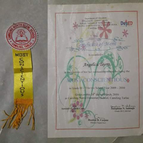 My Grade 3 Recognition