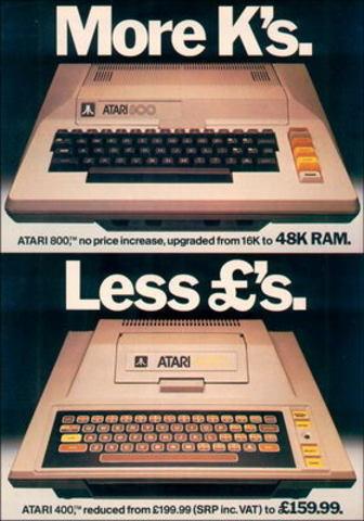 Компьютеры Atari 400 и Atari 800