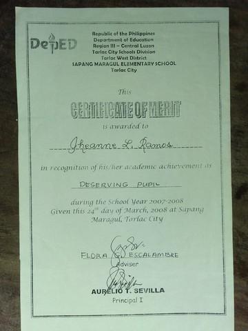 Grade 1 Certification