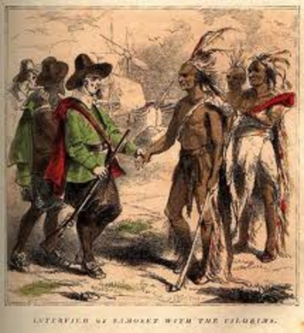 Pilgrams arrive at Plymouth