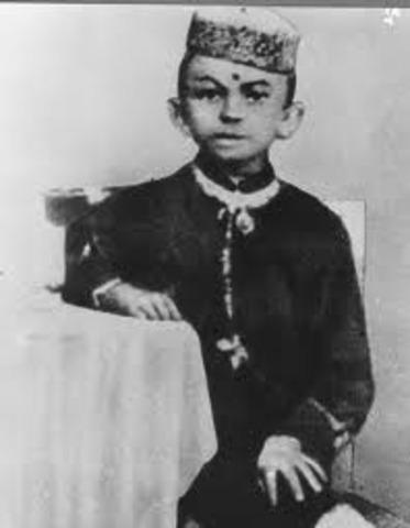 Ghandi was born