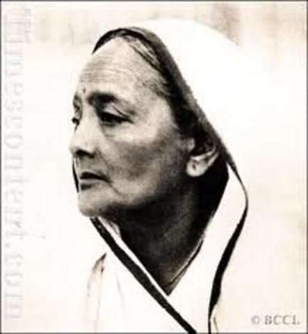 Ghandi's wife kasturba