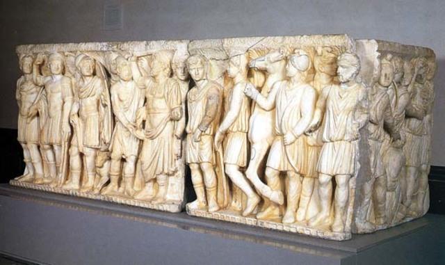 Sarcofago de Aquiles y Políxena