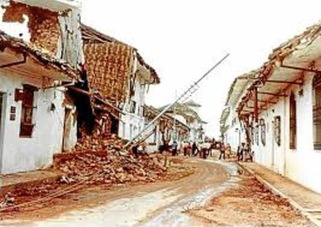 When the earthquake destroyed Popayan, I hadn't been born.