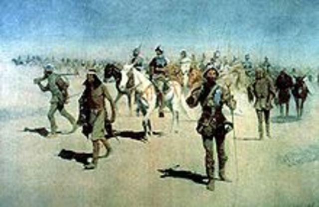 Francisco de Coronado's expedition starts