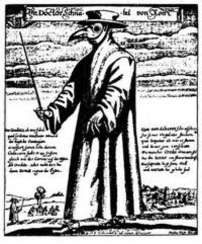 Appearance of the Black Death in Europe