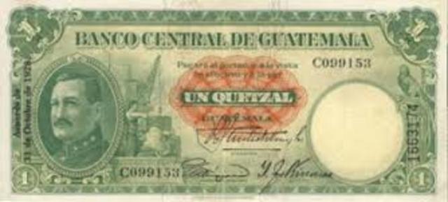 Billete de 1 Quetzal