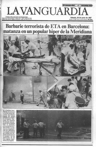 Un ataque por ETA en Barcelona