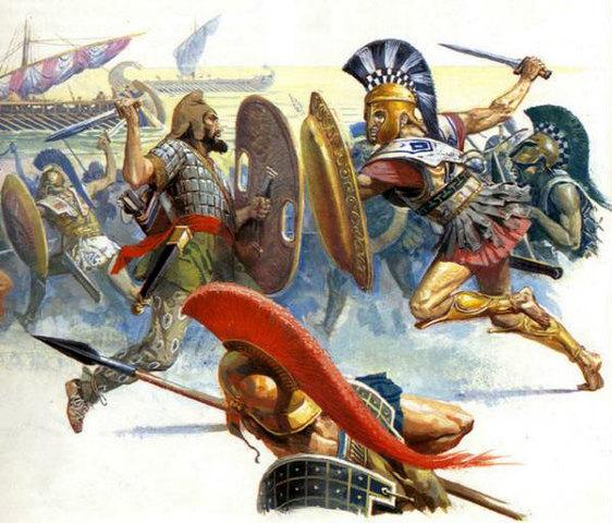 El imperio persa sufrió su primera sacudida