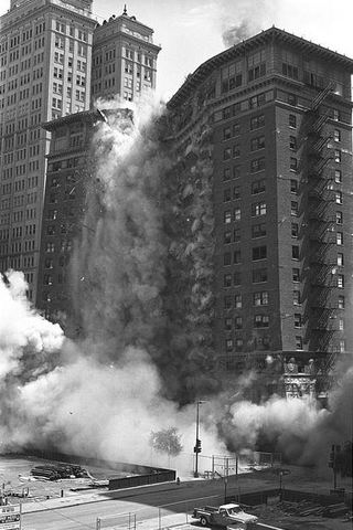 Baker Hotel & Volk Building demolished