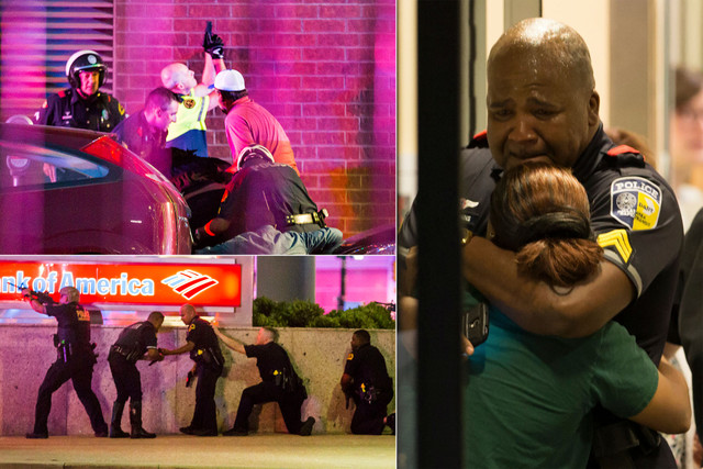 5 officers killed in downtown ambush