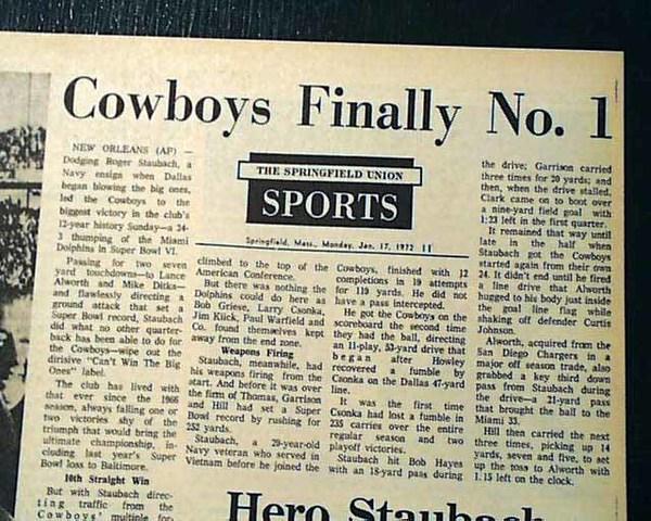Cowboys win their first Super Bowl