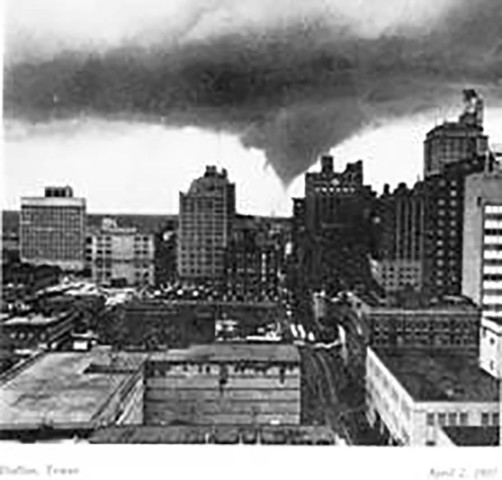 Tornado rips through Dallas, killing 10