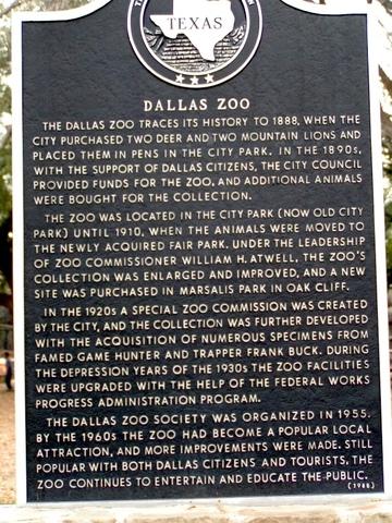 Dallas Zoo established at City Park