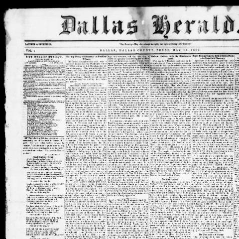 Dallas Herald begins publication