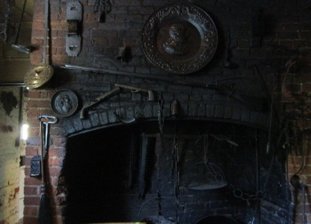 The kitchen fireplace