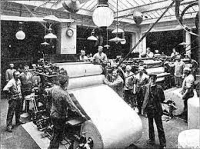 Printing Press for Mass Production (Industrial Age)