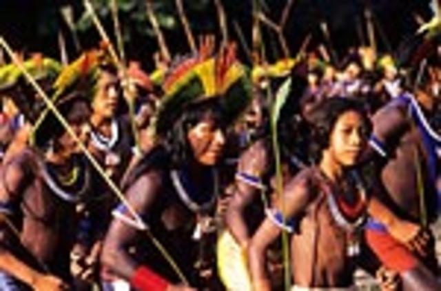 Paiakan Organized and Historic Gatehering in Altamira