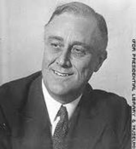 President Franklin D Roosevelt was elected