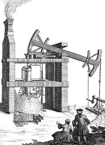Invento de la máquina a vapor