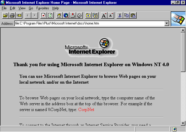 Nacimiento de Internet Explorer