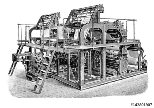 Printing Press for Mass Communication (INDUSTRIAL AGE)