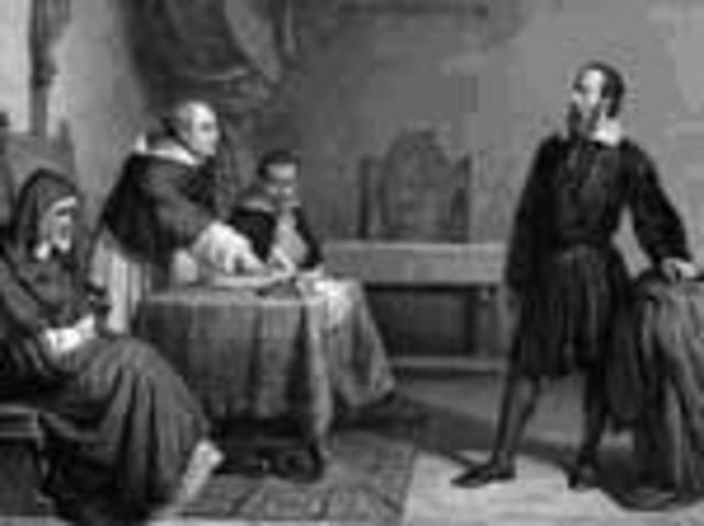 """el Santo Oficio condenó al sistema copernicano como """"falso y opuesto a las Sagradas Escrituras"""", y Galileo recibió la admonición de no enseñar públicamente las teorías de Copérnico."""