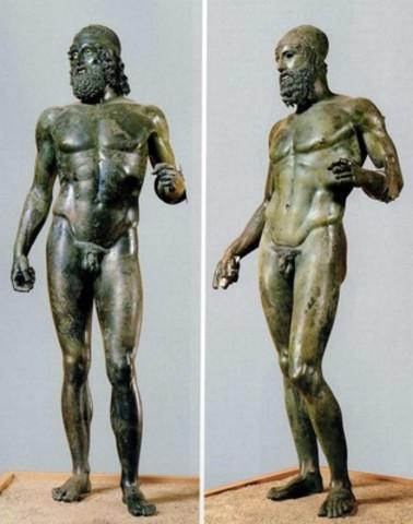 Riace Warriors - Myron/Alkamenes - Ancient Greece - 460 BCE to 450 BCE