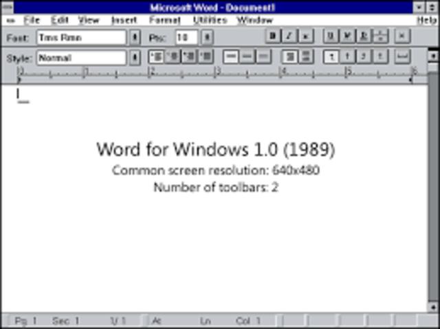 Microsoft Office para Windows 1.0