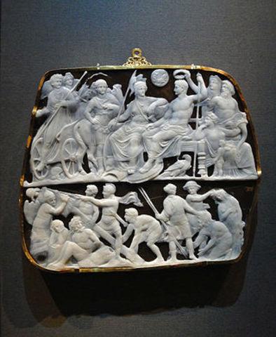 Gemma Augustea - Dioscurides - Ancient Rome - 9 CE to 12 CE