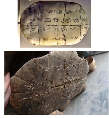 Escritura en caparazones de tortuga