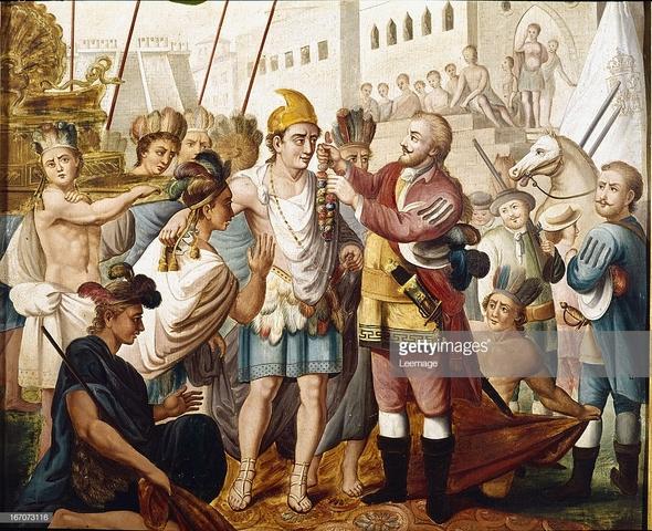 Meeting of Cortes and Montezuma