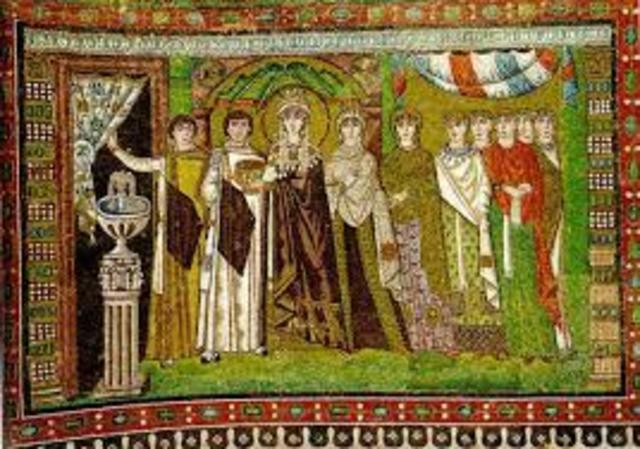 Empress Theodora and Her Attendants, Byzantine, c. 547 CE