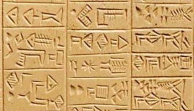 Earliest depiction of writing