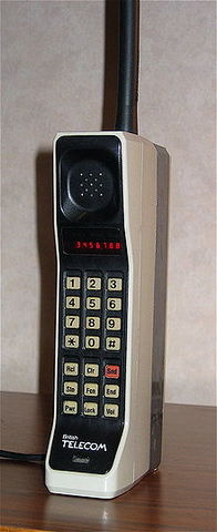 First commercial handheld telephone