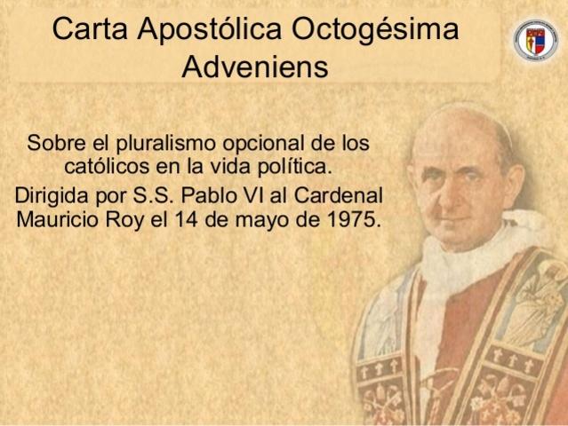 OCTOGESIMA ADVENIENS