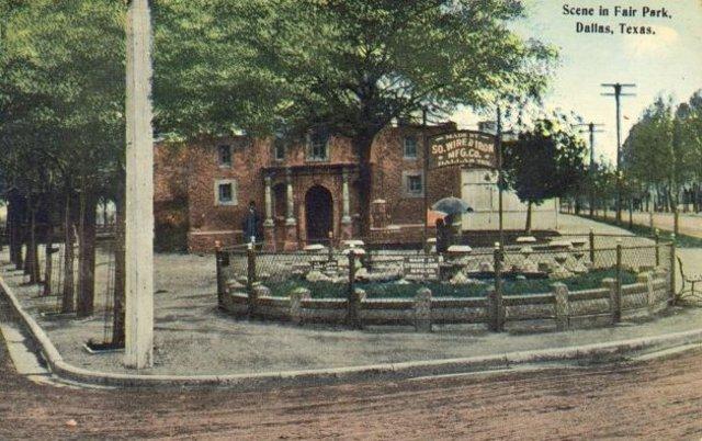 First Fair Park replica of the Alamo razed