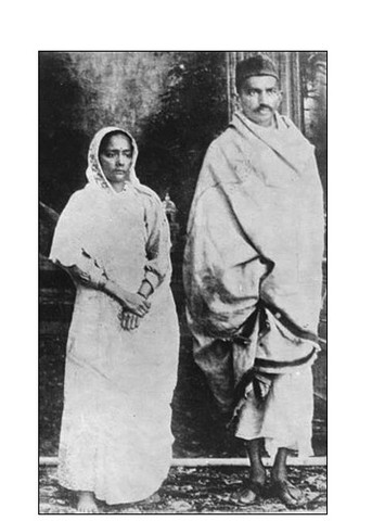 Gandhi and Kasturbai are married