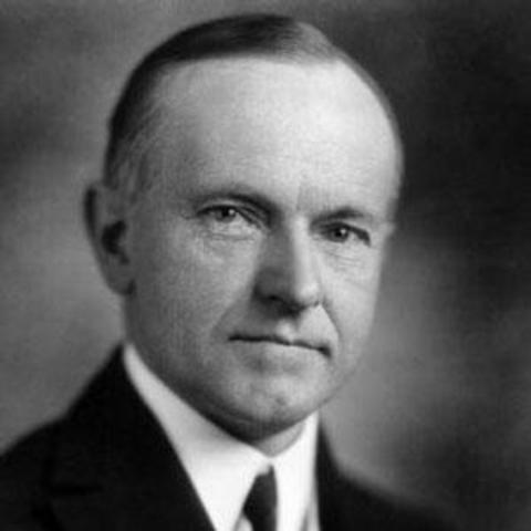 president coolidge was elected