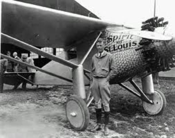 "The ""Spirit of St. Louis"" Takes off across Atlantic"