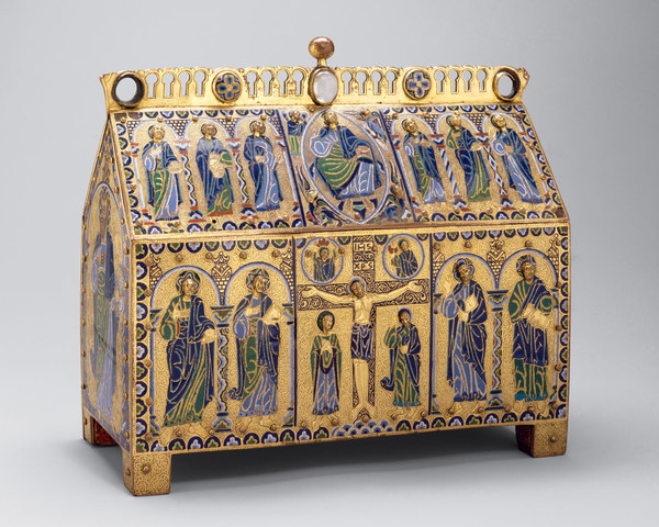 Chasse with the Crucifixion and Christ in Majesty, Romanesque, c. 1180–90 CE