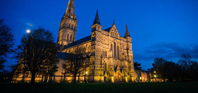Salisbury Cathedral, Gothic, 1220– 1258 CE