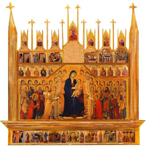 Maestà altarpiece, Duccio di Buoninsegna, Gothic, 1308–1311CE