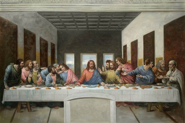 The Last Supper, Leonardo da Vinci, Renaissance,  1495–1498 CE
