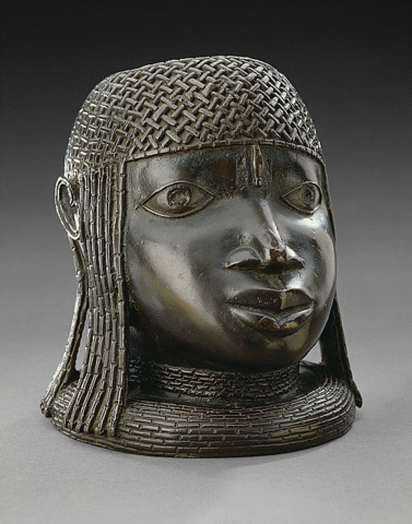 Memorial Head of an Oba (King), African, c. 1500–1600 CE